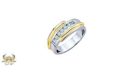 حلقه طلا سفید مردانه