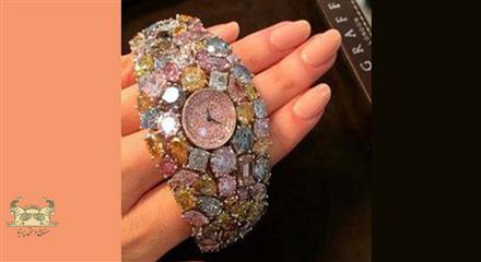 زیباترین ساعت الماس نشان