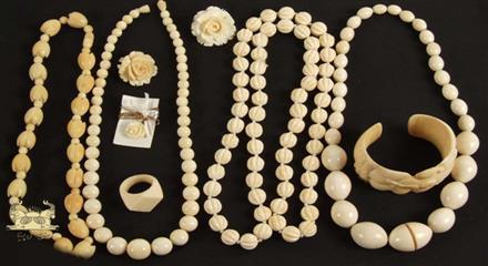 به کار گیری عاج در ساخت جواهرات بدیع