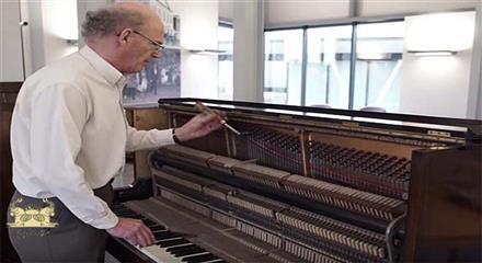 گنجینه پنهان داخل پیانو